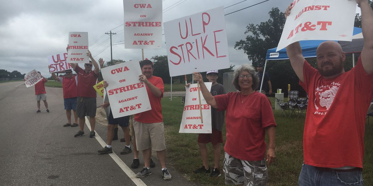 AT&T workers across Southeast on strike