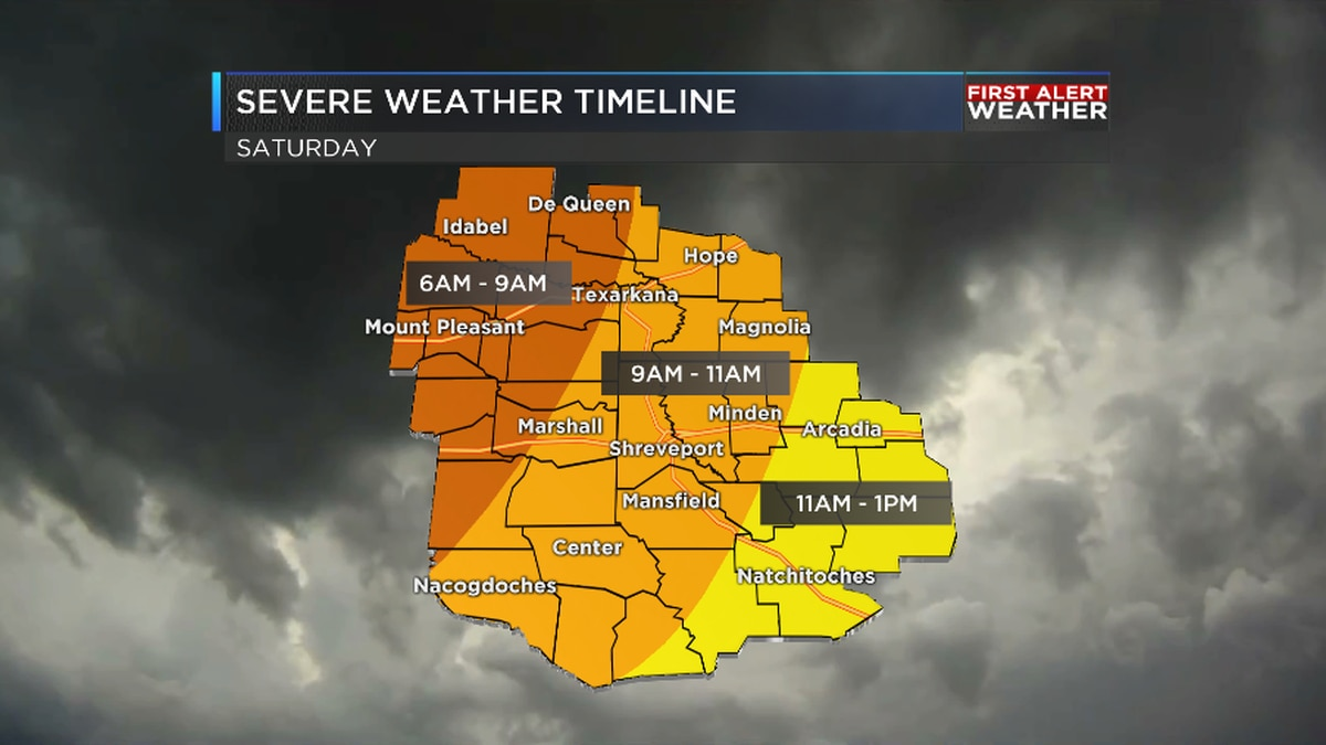 FIRST ALERT: Round of severe storms expected Saturday