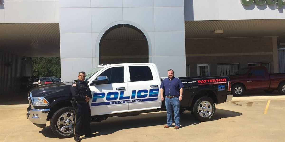 Dealership donates truck to Marshall Police Department