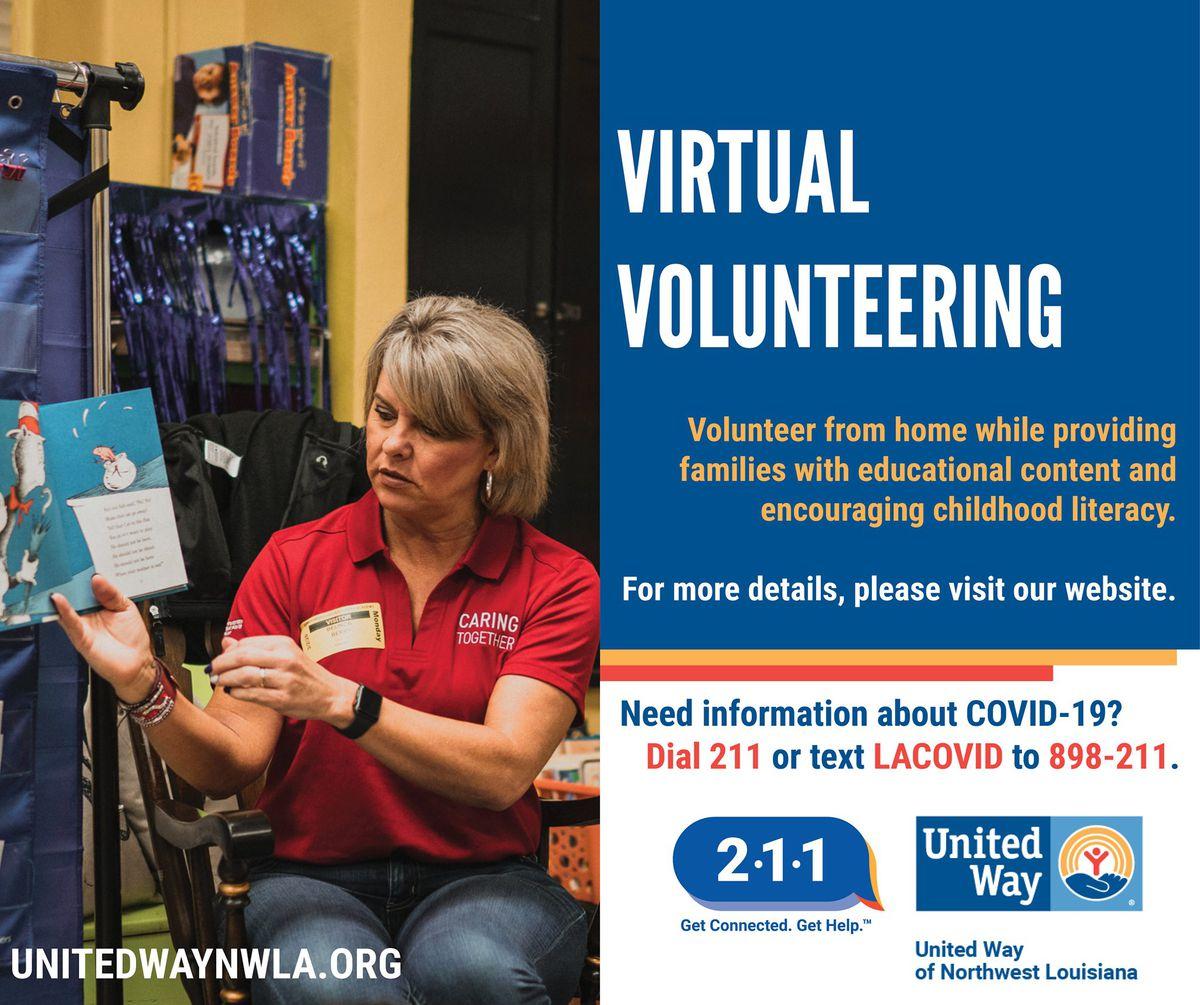 United Way Of NWLA Seeks Virtual Reading Program Volunteers