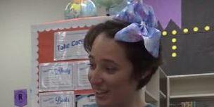 Teacher cuts waist-length hair to support 5-year-old girl bullied for short haircut