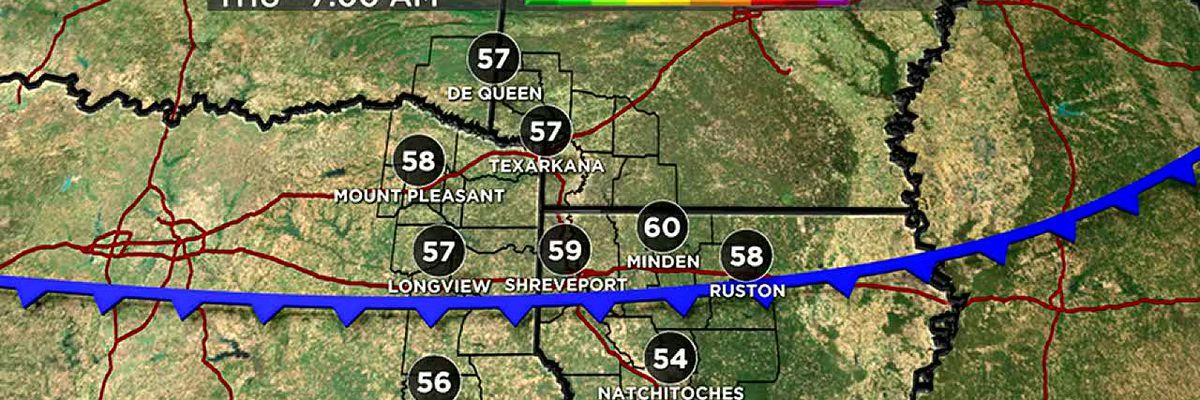 Cold front arrives tonight to bring reinforcing cool air