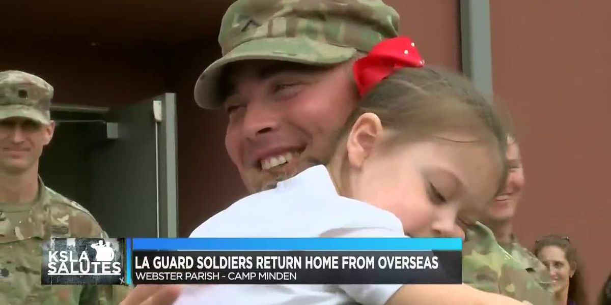 Hundreds gather at Camp Minden to welcome their loved ones back from deployment