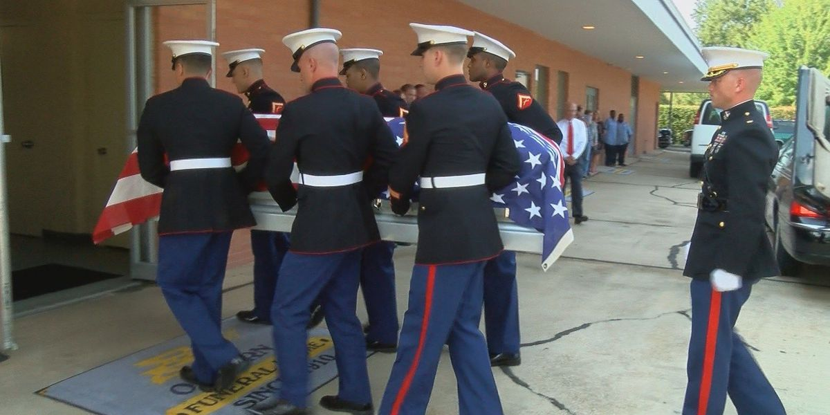 WWII Marine escorted home will be laid to rest