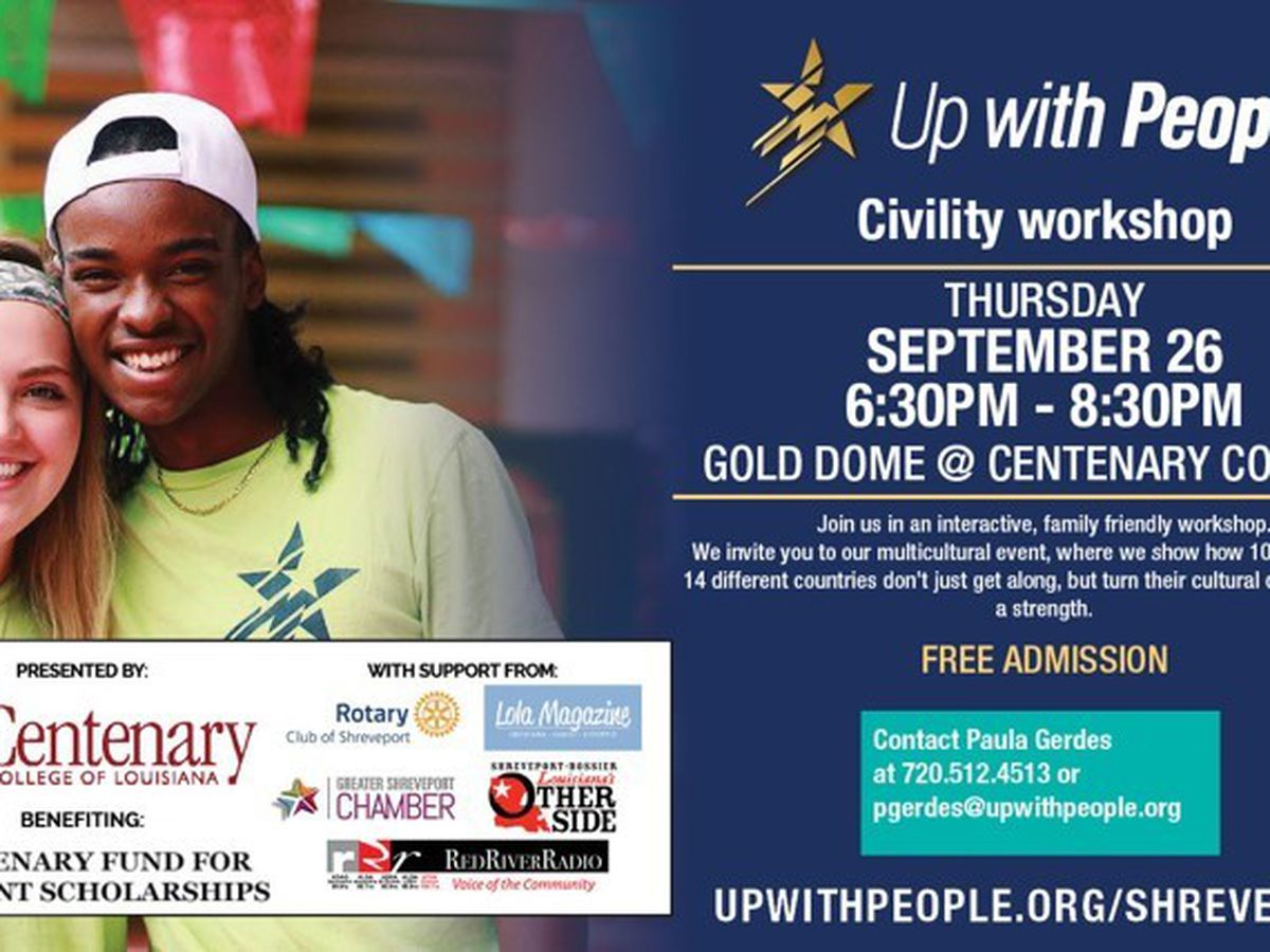Up With People to host civility workshop in Shreveport