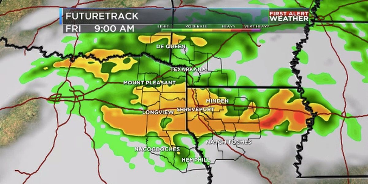 Rain and thunderstorms for Friday