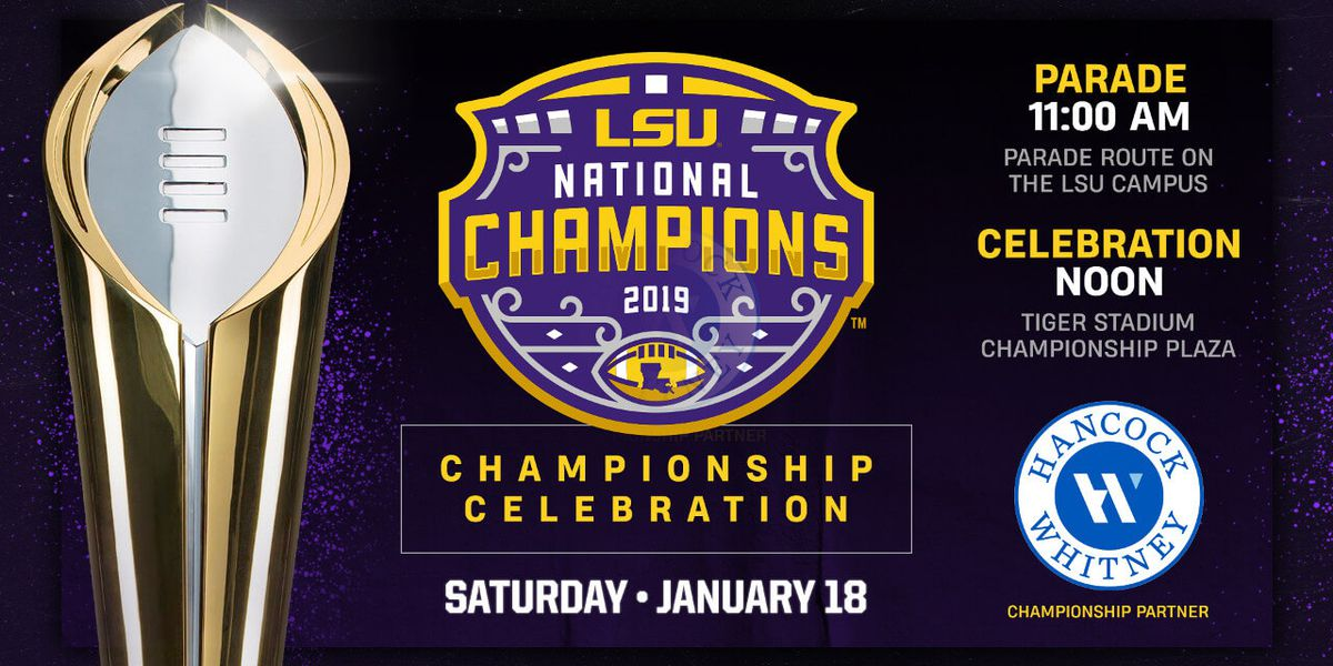 LSU holds championship parade in Baton Rouge