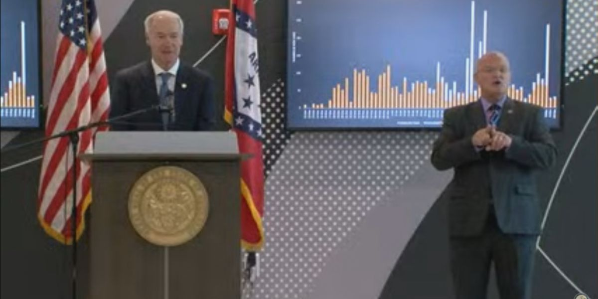 Gov. Hutchinson: Less than 1,000 active COVID-19 cases in Arkansas