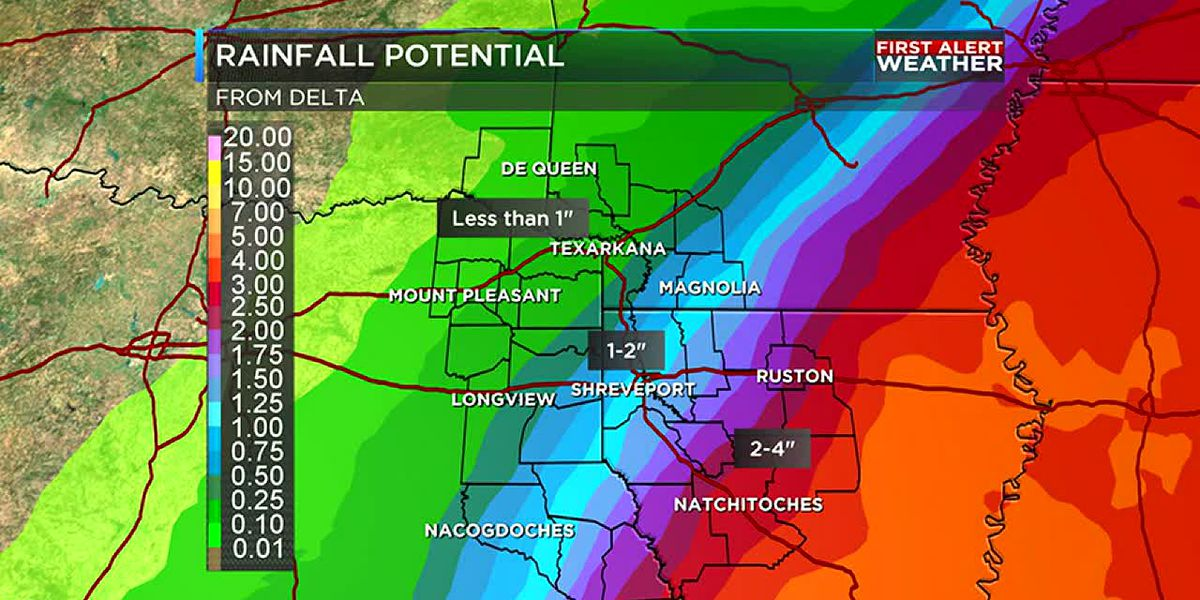 All eyes on Hurricane Delta as rain chances get set to increase