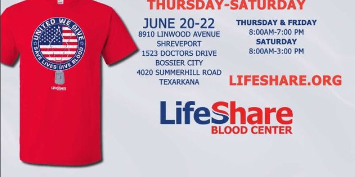 United We Give, United We Live blood drive starts on Thursday
