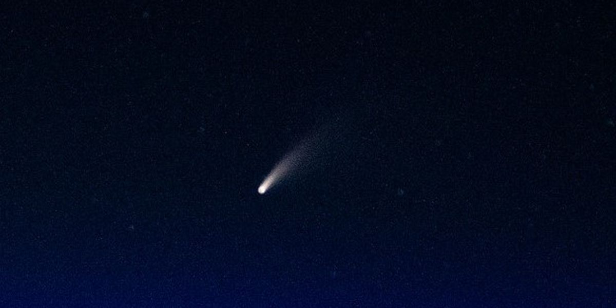 Comet NEOWISE visible in the evening sky over the ArkLaTex