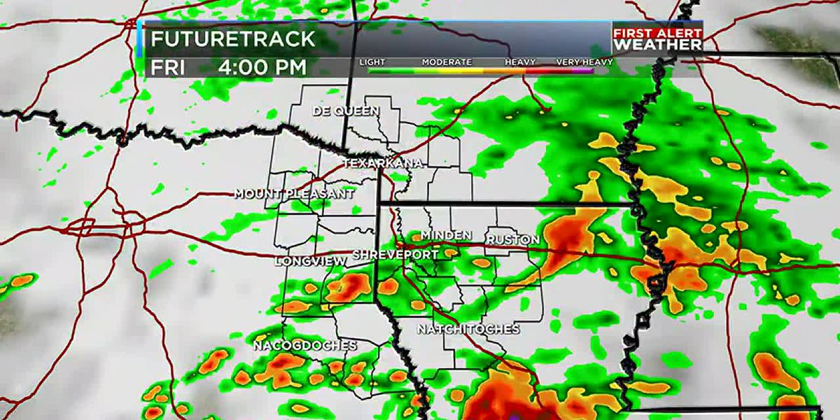 Heavy rain returns Friday ahead of a dry weekend