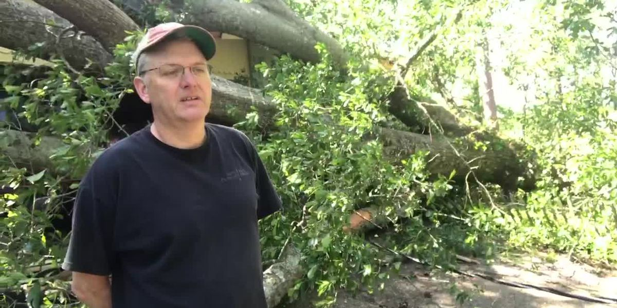 Man talks about property damage from Easter storms that hit Upshur County