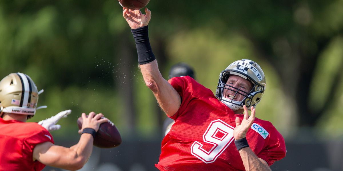 Brees prepares for protocol-packed Saints training camp