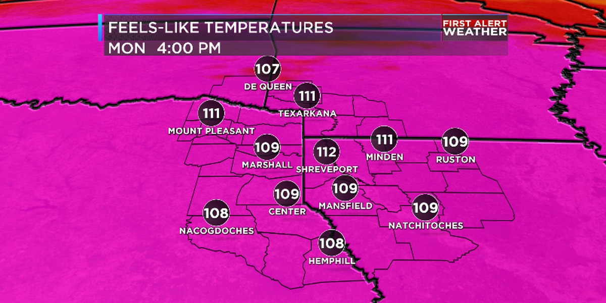 Dangerous heat on the way for ArkLaTex