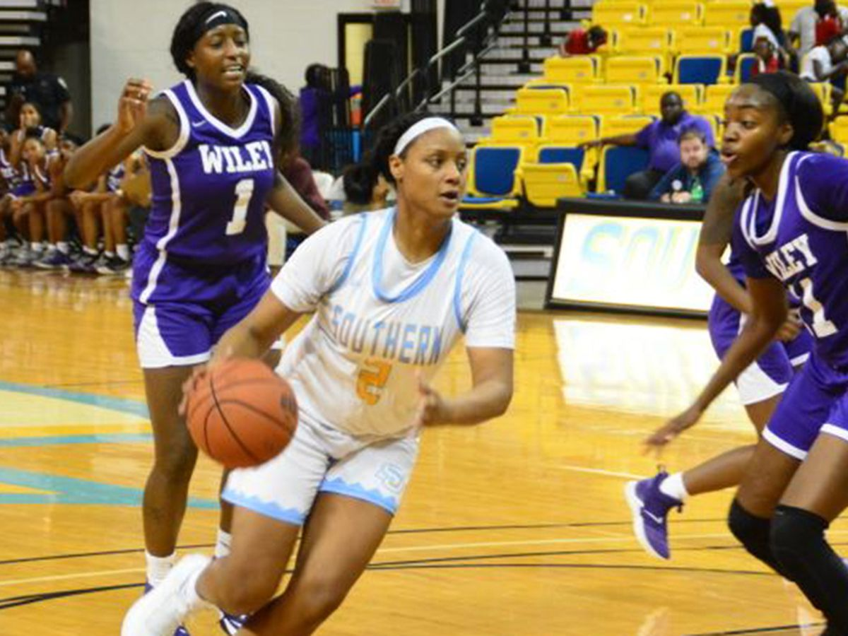 Southern blows past Wiley College in home opener