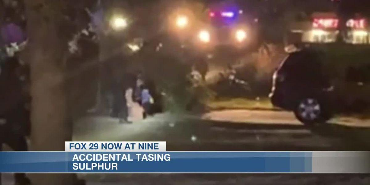 Sulphur police say suspect tased 'in error'