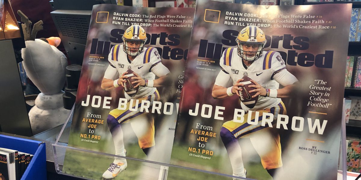 Joe Burrow Sports Illustrated issue is the hottest item in Baton Rouge on Black Friday