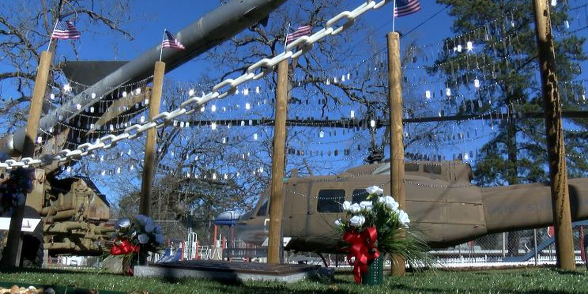 KSLA Salutes: Dog tags fill Ruston Memorial Garden