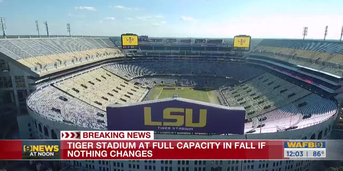 LSU planning 100% capacity for all sporting events this weekend