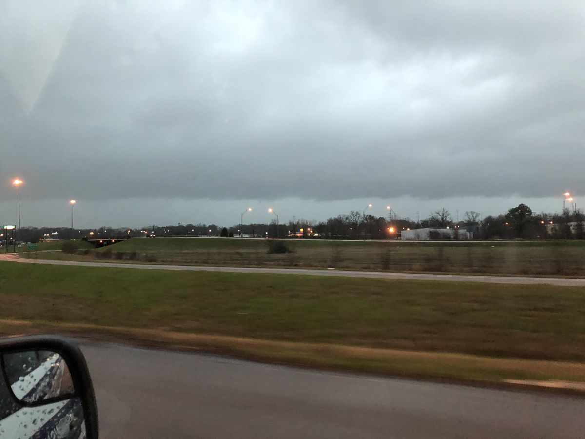 Squall line suspected of causing of swath of damage from McCurtain County, Okla., to Hempstead County, Ark.