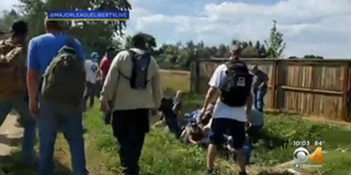 GRAPHIC: More arrests after brawl during pro-police rally in Colorado