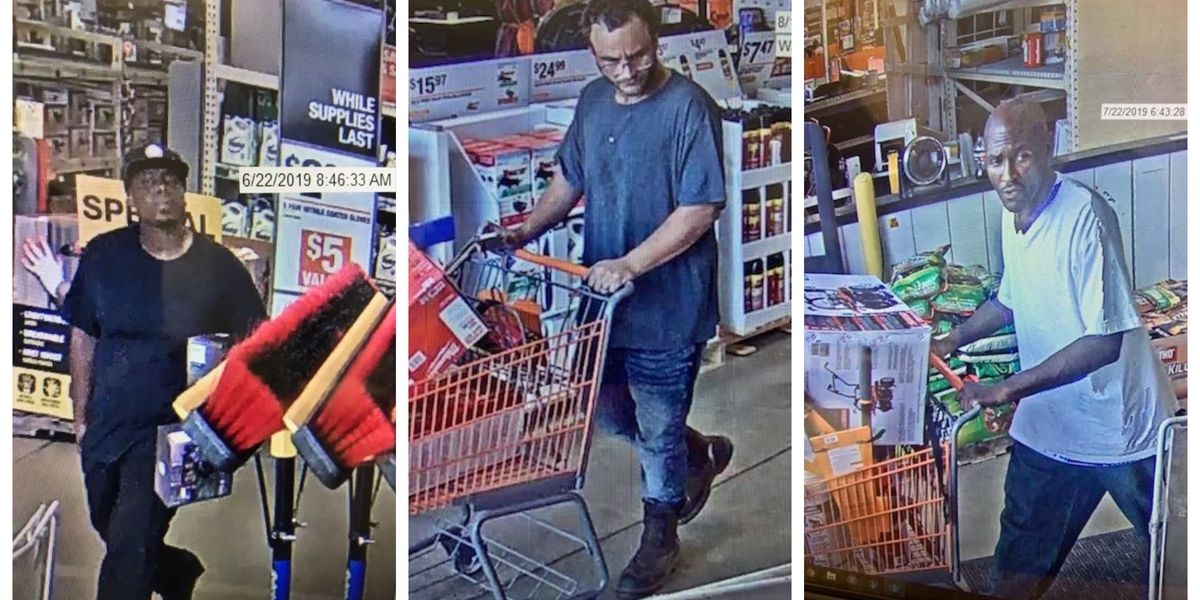 3 Men Wanted In Connection To Home Depot Thefts