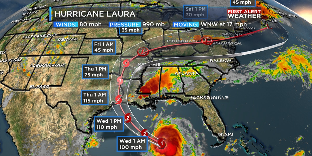 Hurricane Laura threatens the ArkLaTex