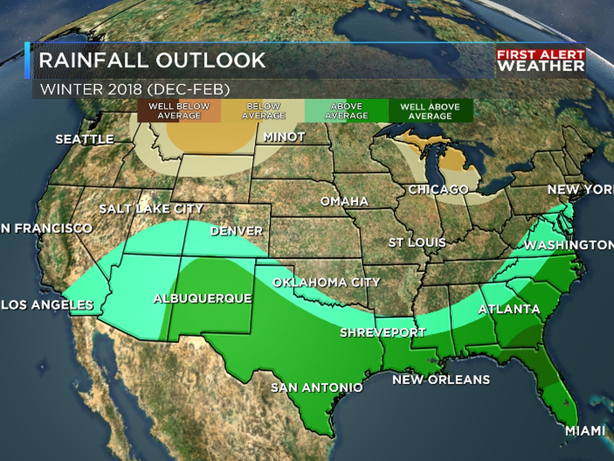 NOAA releases winter outlook for the ArkLaTex