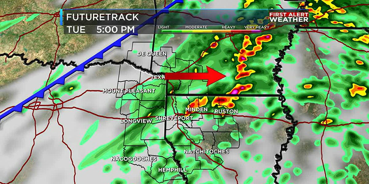 Tracking unsettled weather this evening and Saturday