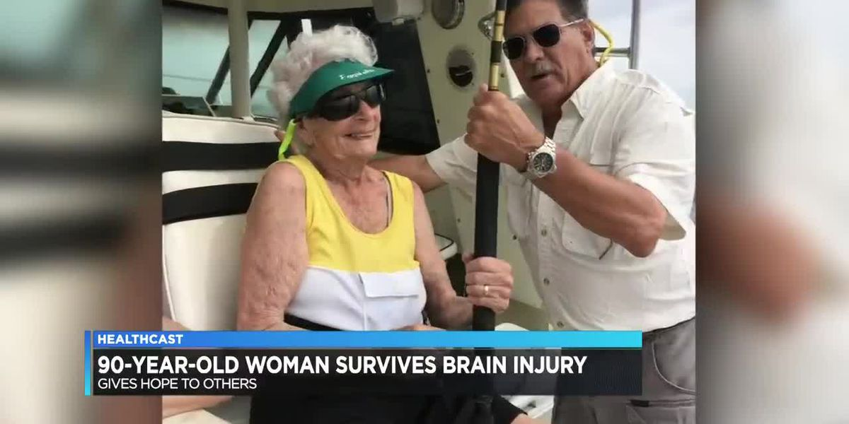 90-year-old woman survives brain injury