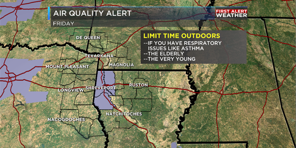 Unhealthy air quality expected on Friday