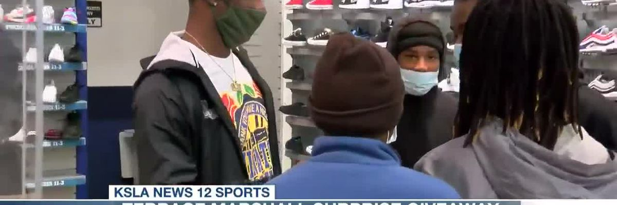 LSU wide receiver Terrace Marshall Jr. surprises 6 youths with shopping spree