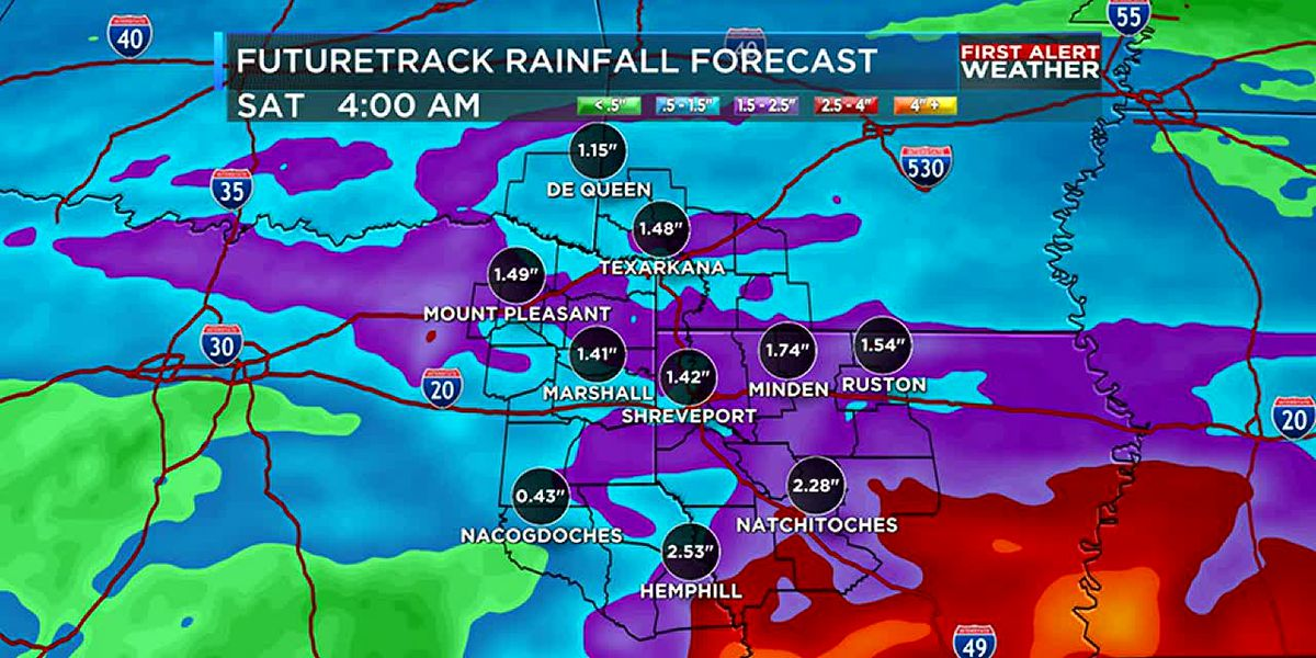 Heavy rain and thunderstorms Wednesday morning