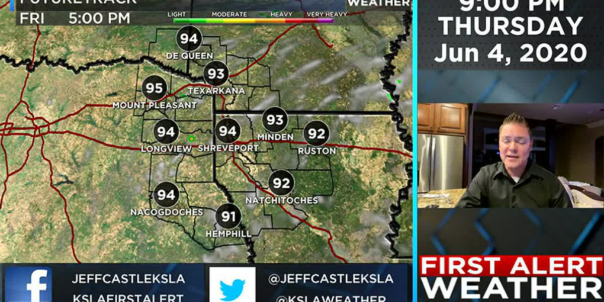 Hot temperatures as Cristobal heads our way