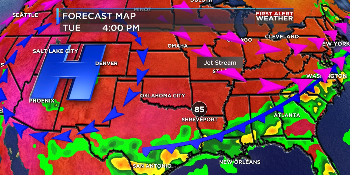 First Alert: Tracking a hot weekend and 'cool' weather next week