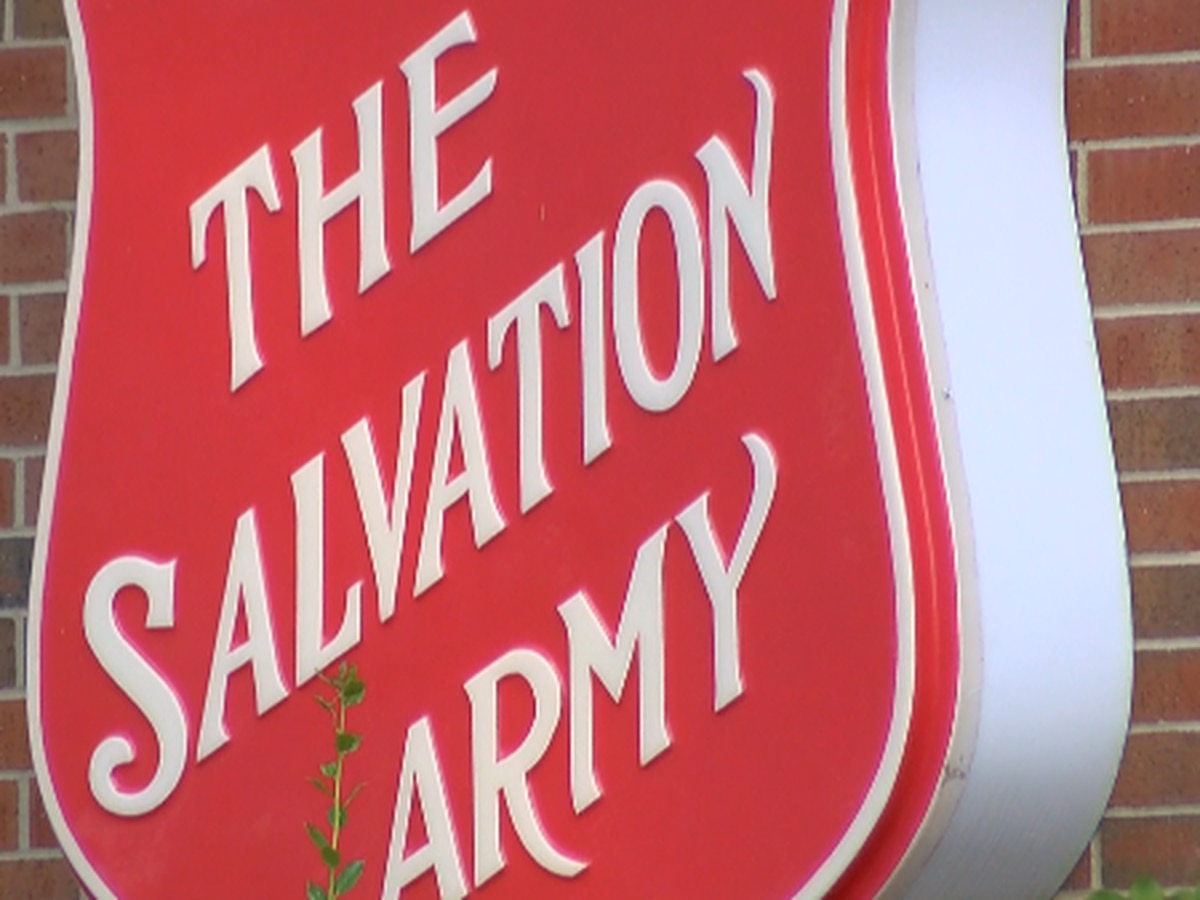 Biker group collects canned goods for The Salvation Army
