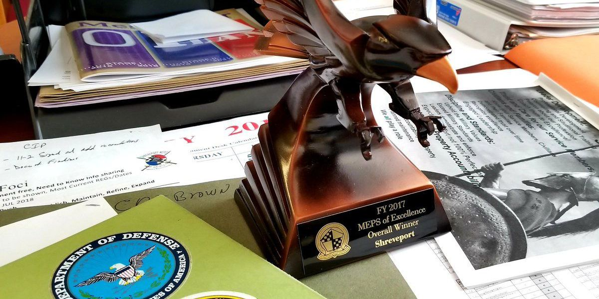 Shreveport MEPS recognized for excellence in helping to build our nation's military service
