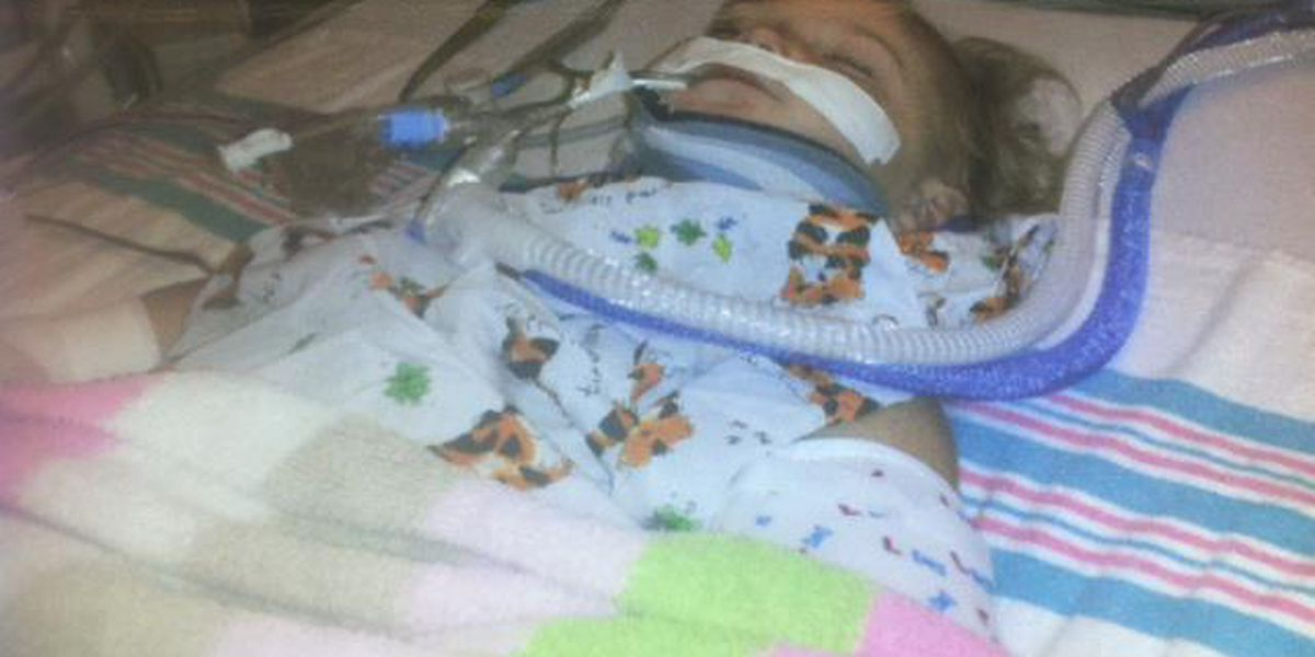 Bossier City toddler on life support after family says babysitter spanked her
