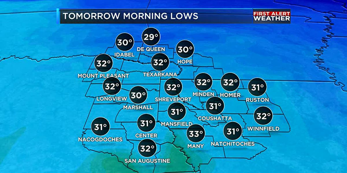 Mostly dry work week, but rain and a cold front are on the way