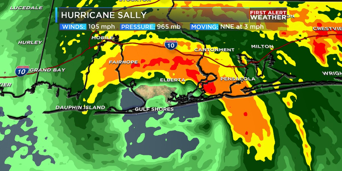 Sally makes landfall as Category 2