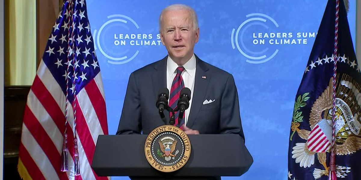 Biden commits US to cutting half of fossil fuel emissions by 2030