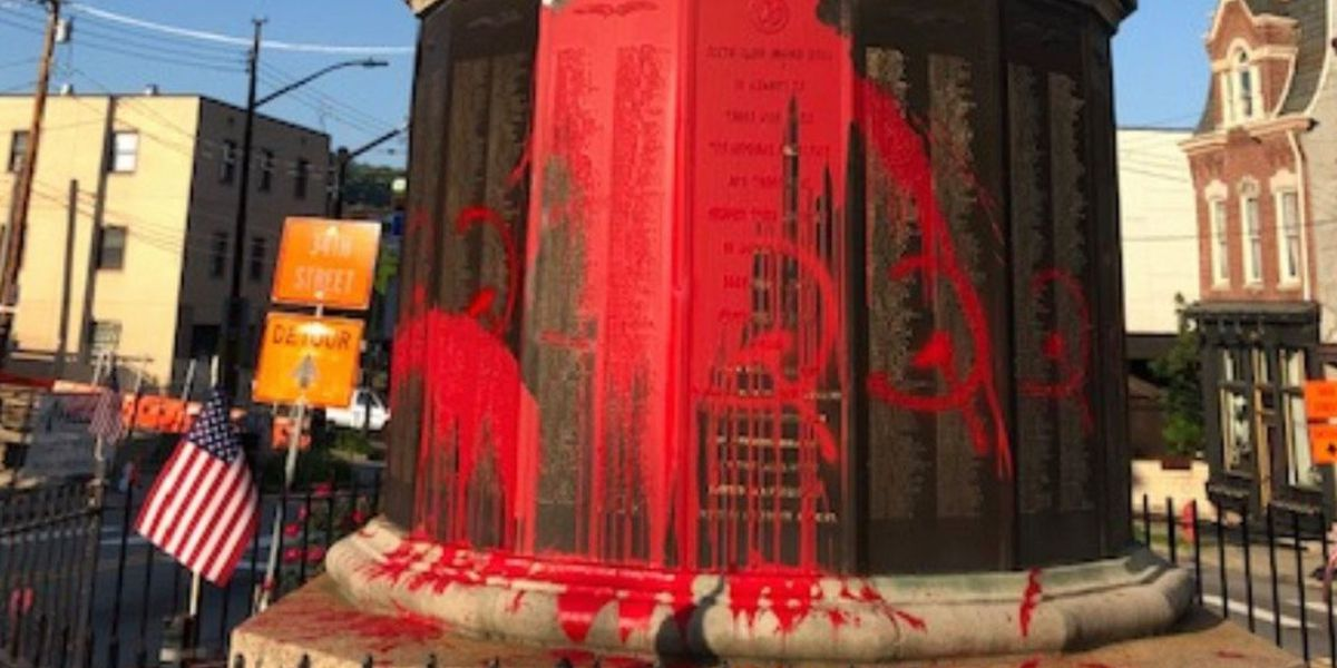 'Incomprehensible': Police say World War I monument vandalized on Memorial Day in Pittsburgh