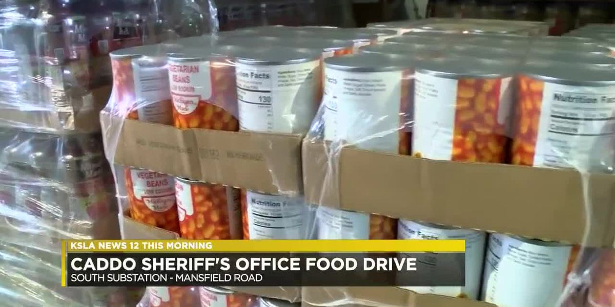 Caddo Sheriff's Office collecting food for families in need ahead of holidays