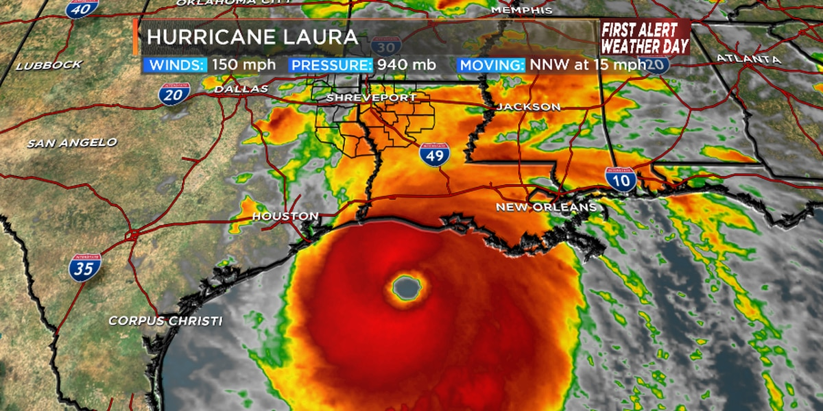 First Alert Powerful Hurricane Laura Moves Through The Arklatex Thursday