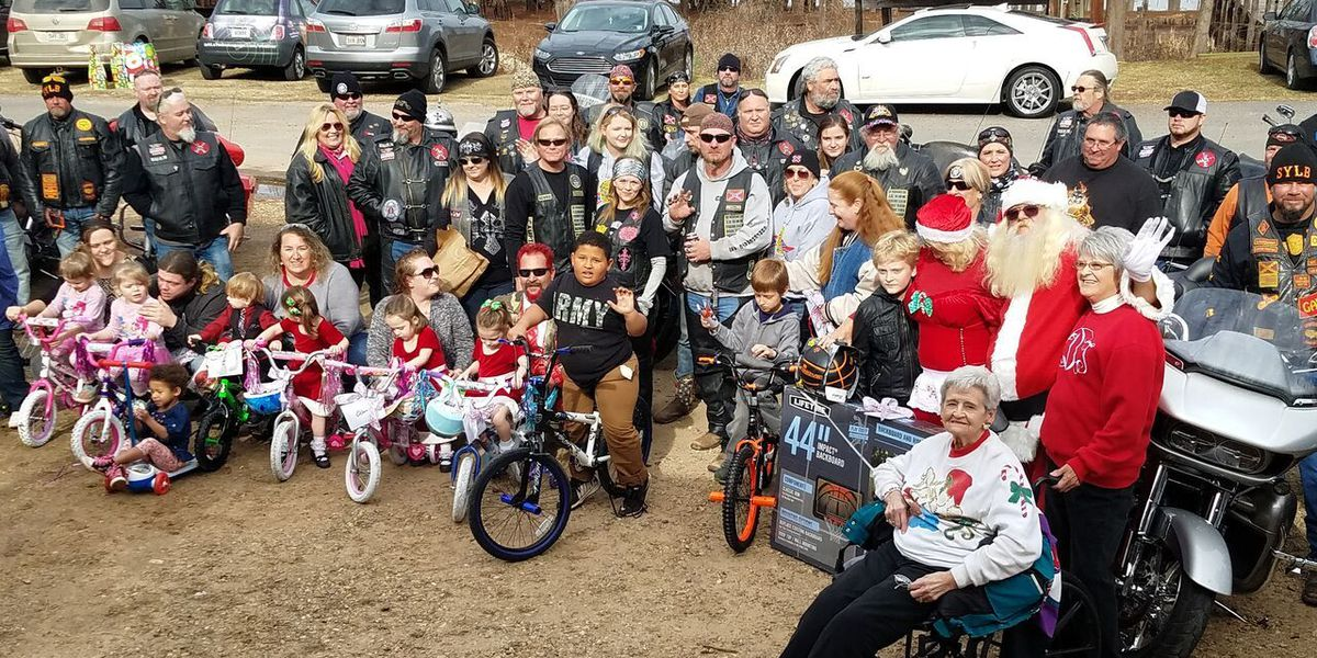 Motorcyclists bring holiday cheer to Lake Bistineau
