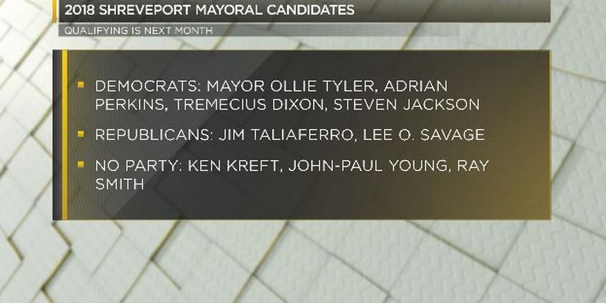 Several candidates announce intentions to run for Shreveport mayor
