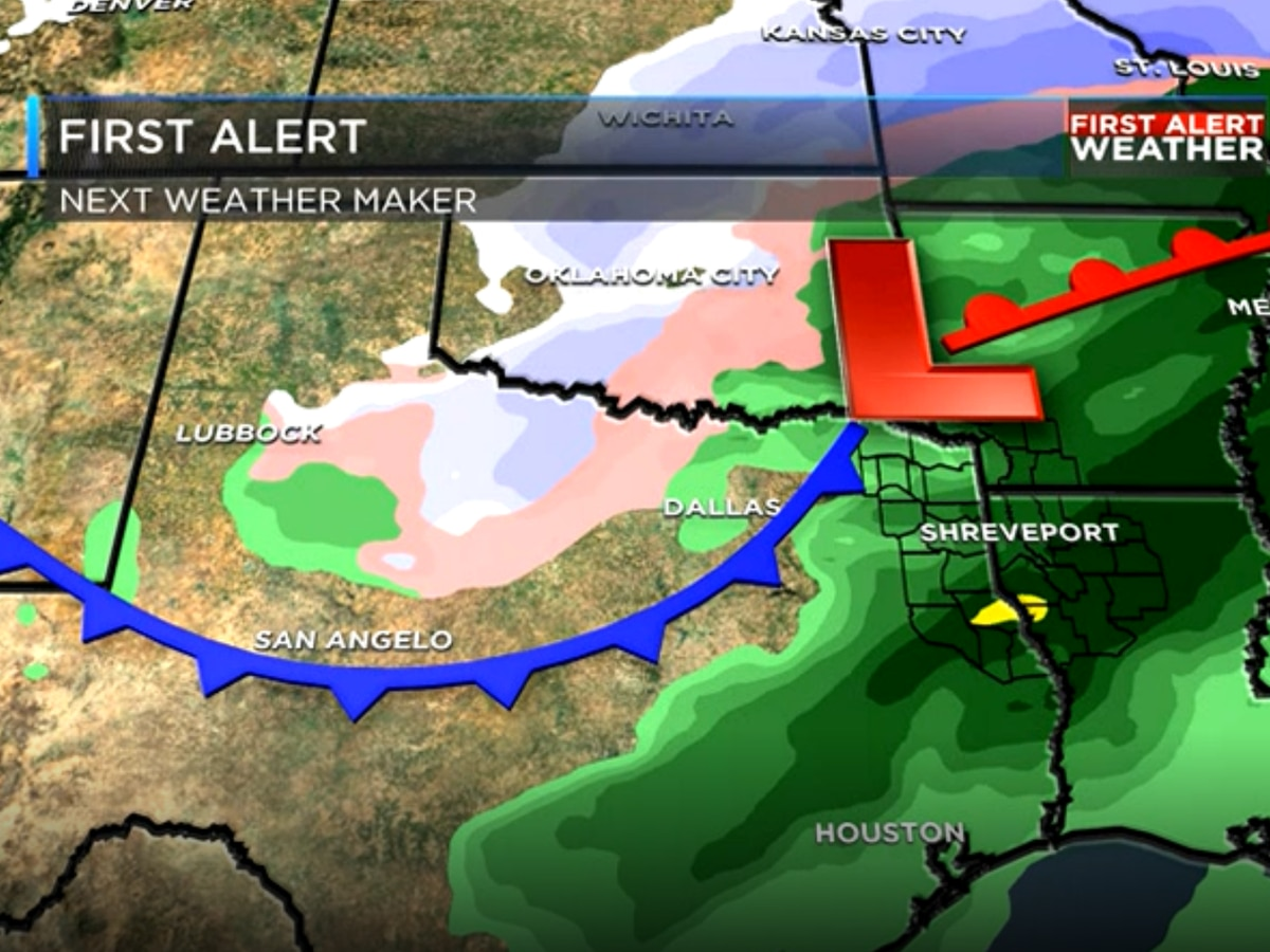 Storms possible Friday & Saturday, arctic air moves in after