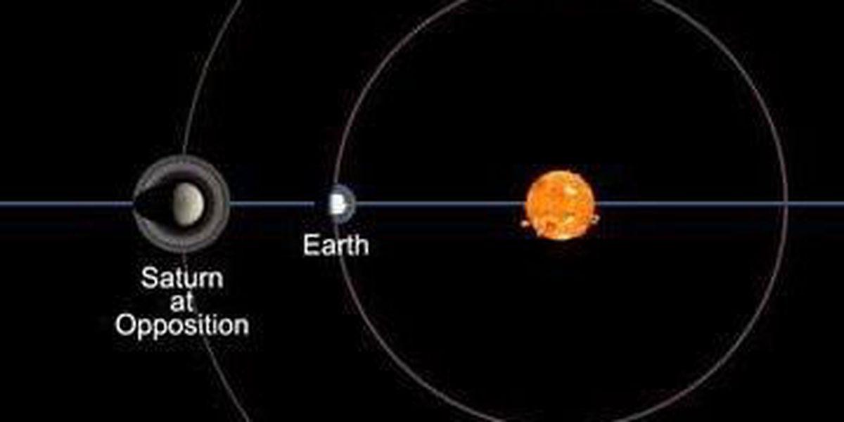 Saturn visible this week