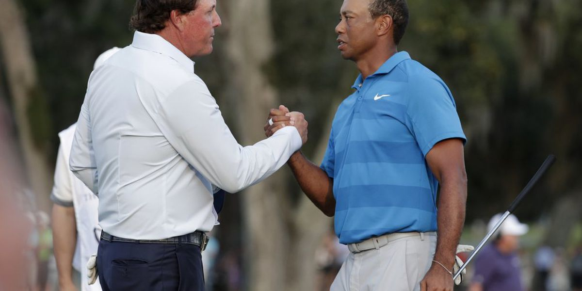 Woods, Mickelson to stage TV match with Brady, Manning